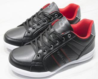 Мъжки спортни обувки Bulldozer черни еко кожа