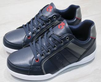 Мъжки спортни обувки Bulldozer  еко кожа тъмно сини