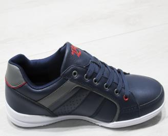 Мъжки спортни обувки Bulldozer  еко кожа тъмно сини 3