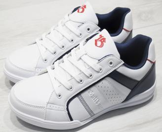 Мъжки спортни обувки Bulldozer  еко кожа бели