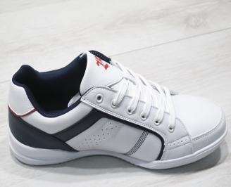 Мъжки спортни обувки Bulldozer  еко кожа бели 3