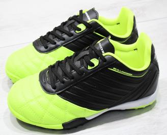 Юношески маратонки Bulldozer еко кожа зелено/черно
