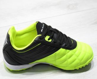 Юношески маратонки Bulldozer еко кожа зелено/черно 3