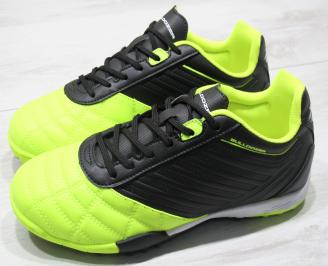 Мъжки маратонки Bulldozer еко кожа зелени/черно