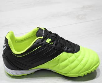 Мъжки маратонки Bulldozer еко кожа зелени/черно 3