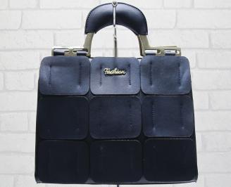 Дамска чанта еко кожа тъмно синя
