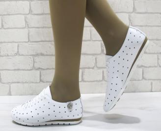 Дамски  обувки Гигант  бели естествена кожа