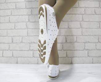 Дамски  обувки Гигант  бели естествена кожа 3