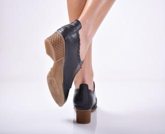 Дамски ежедневни обувки естествена кожа черни 3