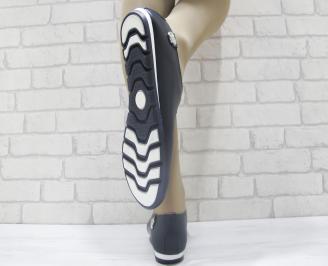 Дамски обувки от естествена кожа Гигант тъмно сини 3