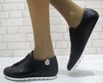Дамски обувки от естествена кожа Гигант черни