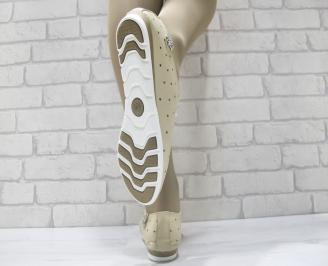 Дамски  обувки Гигант  бежови естествена кожа 3