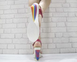 Дамски сандали на платформа 3