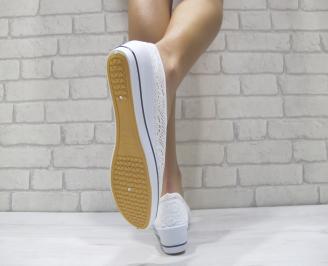 Дамски  обувки  бели текстил 3