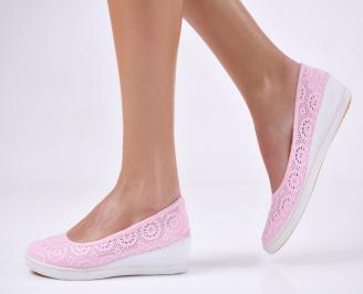 Дамски  обувки  розови текстил