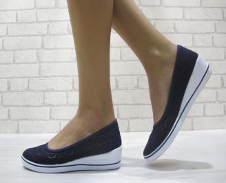 Дамски  обувки  тъмно сини текстил