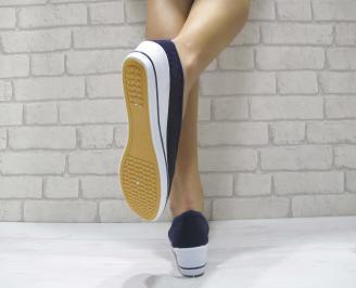 Дамски  обувки  тъмно сини текстил 3
