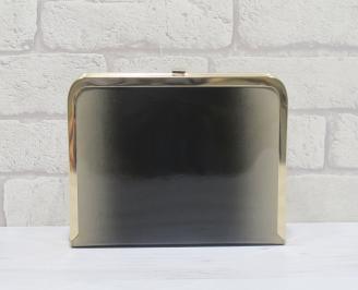 Абитуриентска чанта еко кожа/лак черно/бежаво