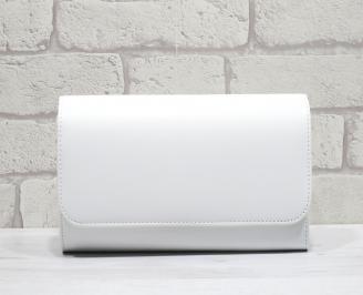 Абитуриентска чанта еко кожа бяла