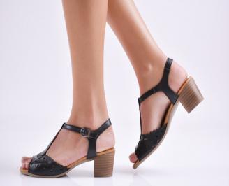 Дамски сандали  черни  естествена кожа