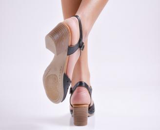 Дамски сандали  черни  естествена кожа 3