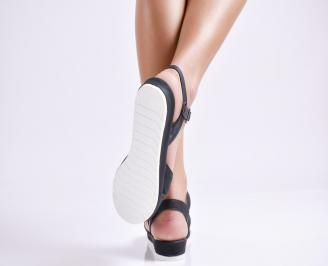 Дамски равни  сандали  текстил черни