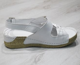 Дамски  сандали  Гигант  бели естествена кожа 3