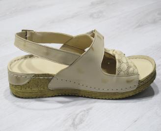 Дамски  сандали  Гигант  бежови естествена кожа 3