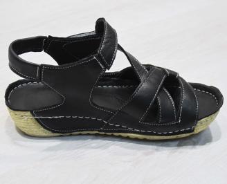 Дамски  сандали  Гигант  черни естествена кожа 3
