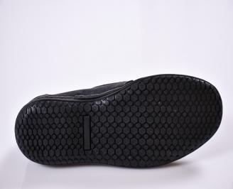 Мъжки обувки черни естествен набук 3