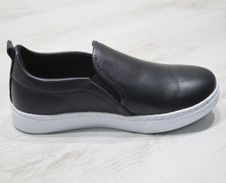 Мъжки спортни обувки естествена кожа тъмно сини 3