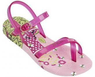 Детски равни силиконови сандали Ipanema розови