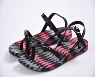 Детски равни силиконови сандали Ipanema черни