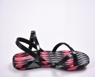 Детски равни силиконови сандали Ipanema черни 3