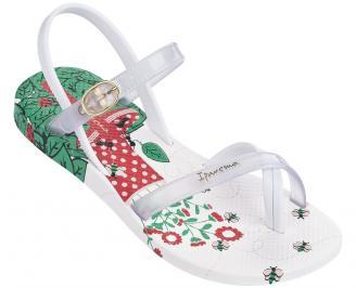 Детски равни силиконови сандали Ipanema бели