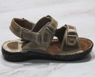Мъжки сандали -Гигант естествена кожа кафяви 3