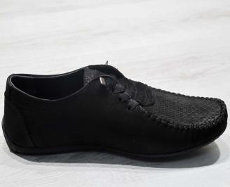 Мъжки спортни обувки естествен набук черни