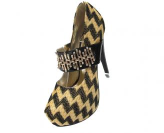 Дамски елегантни обувки  златни 3