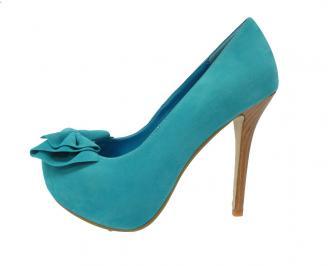 Дамски елегантни обувки  сини