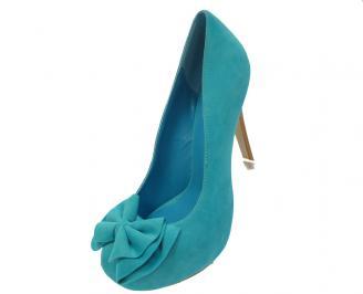 Дамски елегантни обувки  сини 3