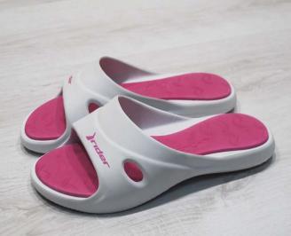 Дамски силиконови чехли Rider-Бяло/розово