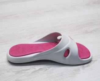 Дамски силиконови чехли Rider-Бяло/розово 3