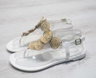 Дамски сандали силикон бели