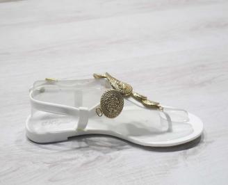 Дамски сандали силикон бели 3