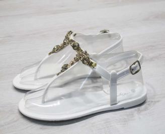 Дамски сандали силиконови бели
