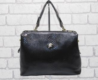 Дамска чанта еко кожа тъмно кафява