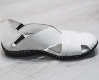 Мъжки сандали естествена кожа  бели 3