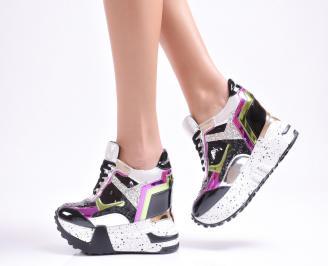 Дамски обувки  на платформа  шарени