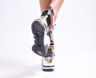Дамски обувки  на платформа  шарени 3