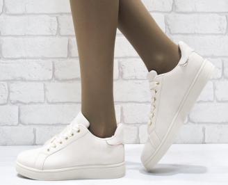 Дамски спортни обувки   Bulldozer еко кожа бежови